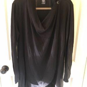 Bobeau Wrap Style Cardigan Black XL